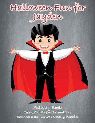 Halloween Fun for Jayden Activity Book