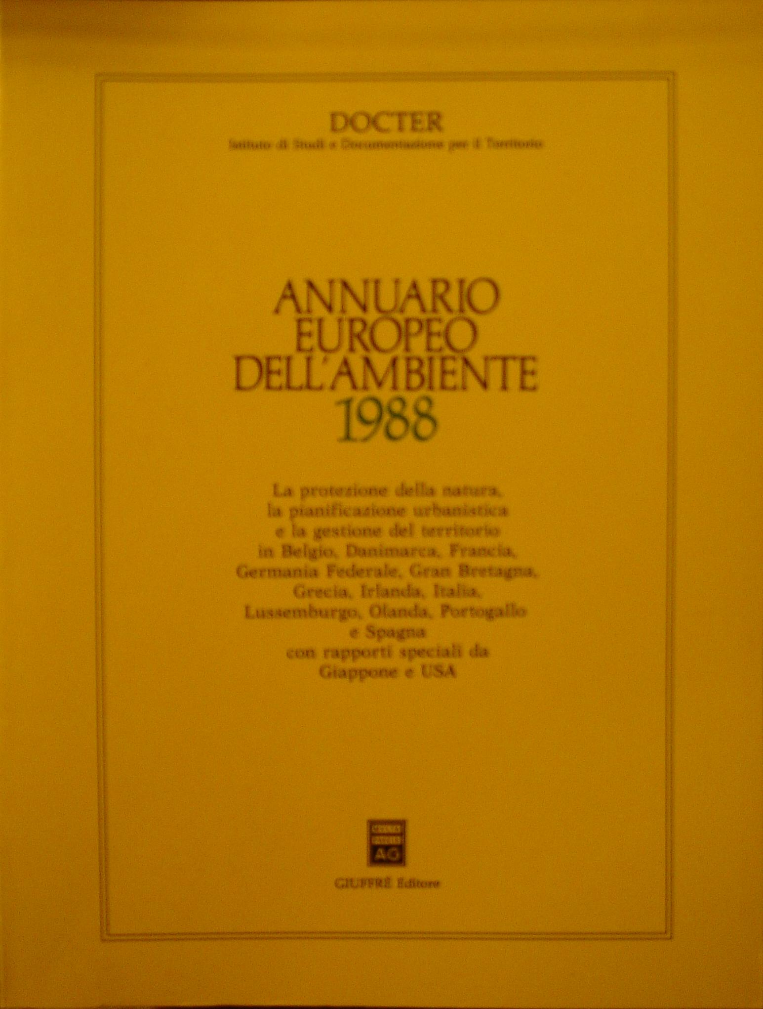 Annuario europeo dell'ambiente 1988