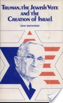 Truman, the Jewish vote, and the creation of Israël