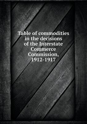 Table of Commodities in the Decisions of the Interstate Commerce Commission, 1912-1917