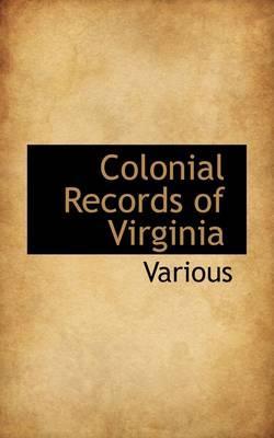 Colonial Records of Virginia