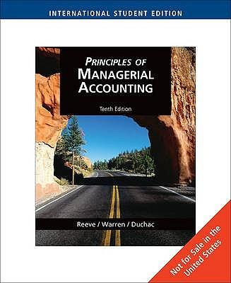 Principles of Managerial Accounting, International Edition