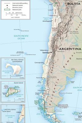 Current Map of the Nation of Chile Journal