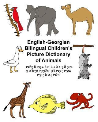 English-georgian Bilingual Children's Picture Dictionary of Animals