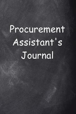 Procurement Assistant's Journal Chalkboard Design