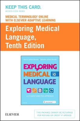 Exploring Medical Language Medical Terminology Online With Elsevier Adaptive Learning Access Code
