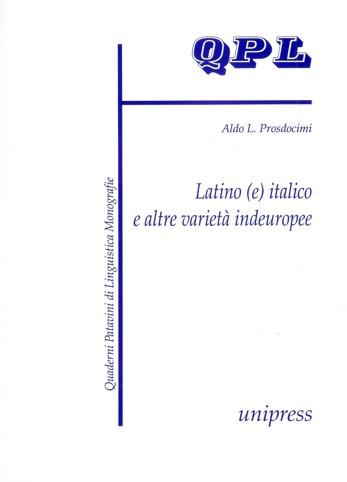 Latino (e) italico e altre varietà indeuropee
