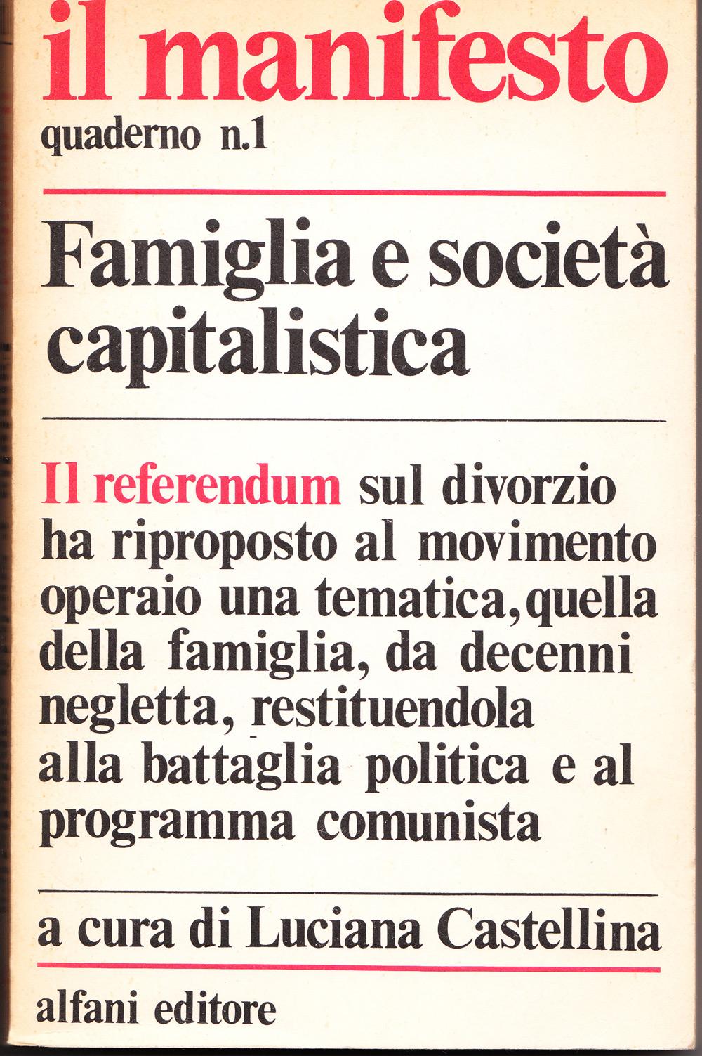Famiglia e società capitalistica