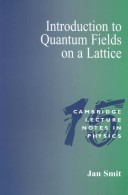 Introduction to quantum fields on a lattice