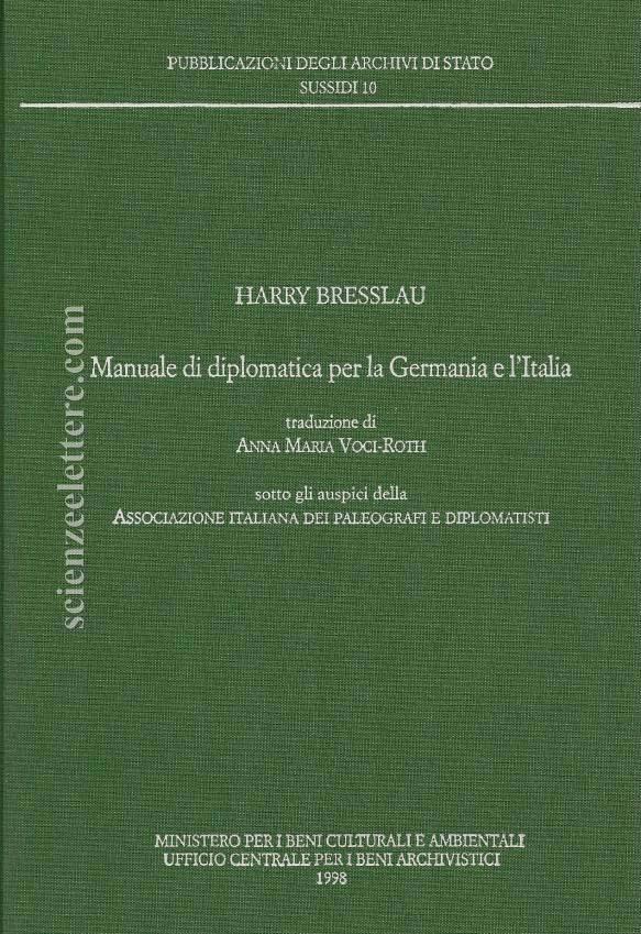 Manuale di diplomatica per la Germania e l'Italia