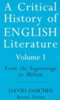 A Critical History of English Literature,Vol. 1