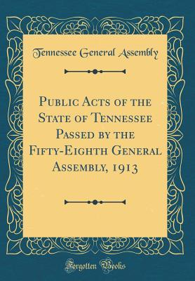 Public Acts of the State of Tennessee Passed by the Fifty-Eighth General Assembly, 1913 (Classic Reprint)