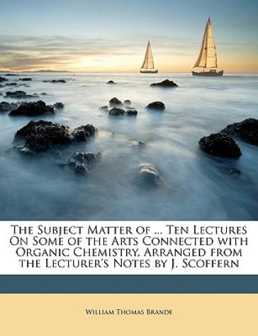 The Subject Matter o...