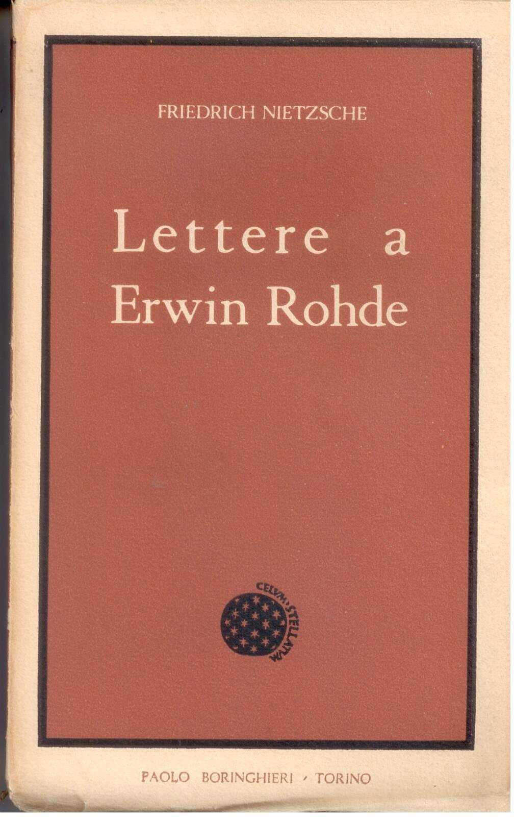 Lettere a Erwin Rohde