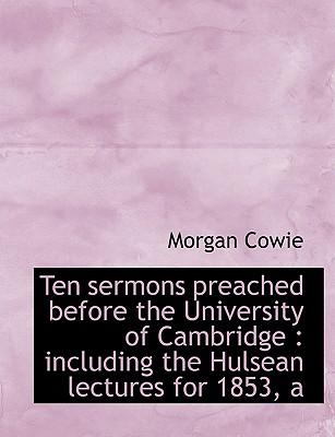 Ten sermons preached before the University of Cambridge