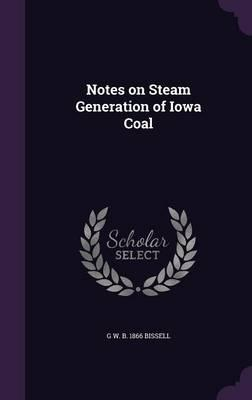 Notes on Steam Generation of Iowa Coal