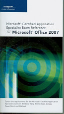 Microsoft Certified Application Specialist Exam Reference for Microsoft Off