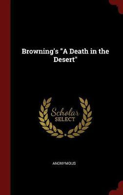 Browning's a Death in the Desert