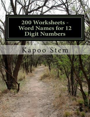 Word Names for 12 Digit Numbers