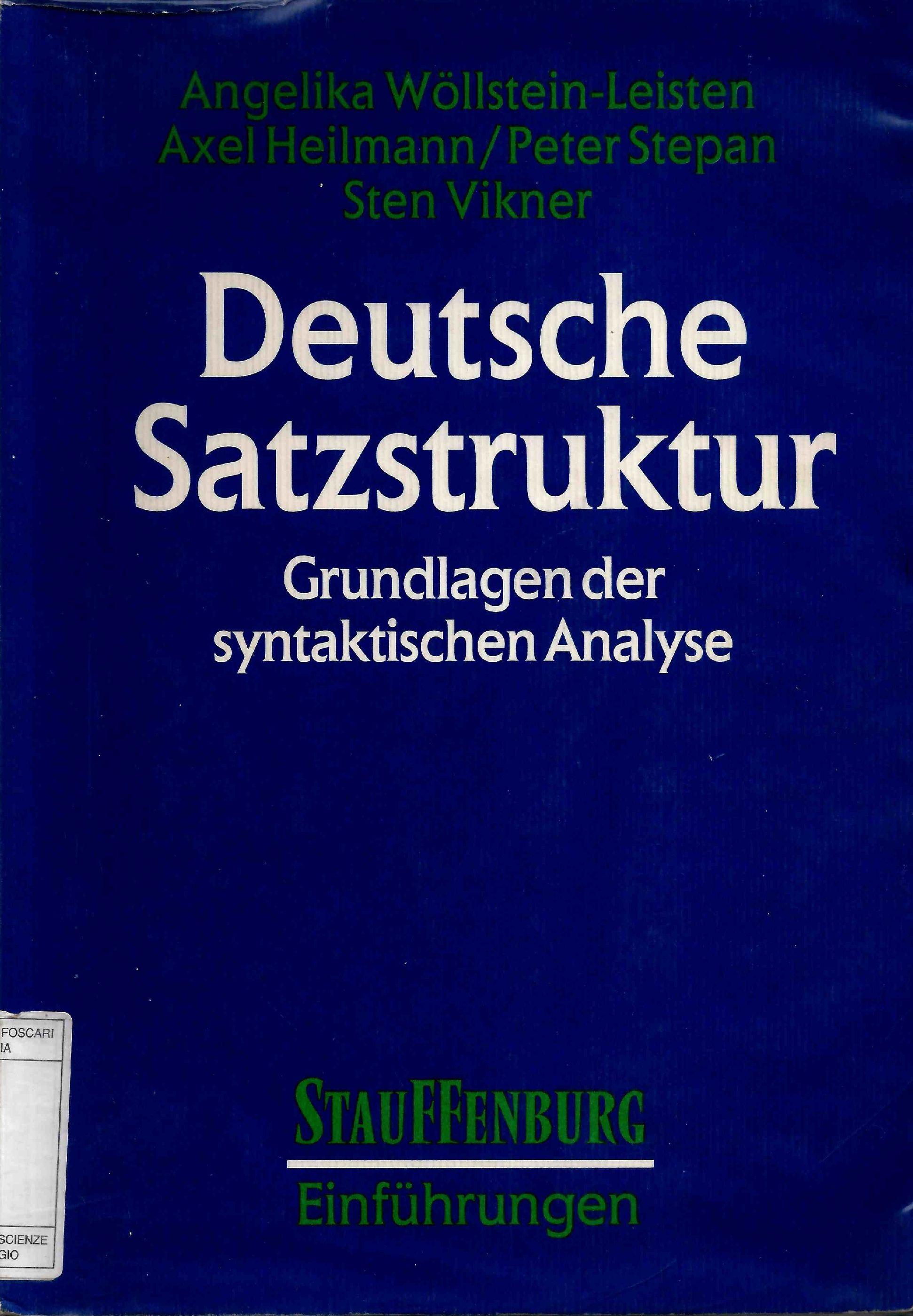Deutsche Satzstruktur.