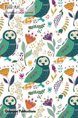 Folk Art Illustrated Lined Journal