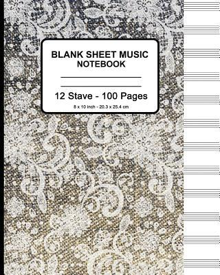 Blank Sheet Music Notebook - Faux Lace