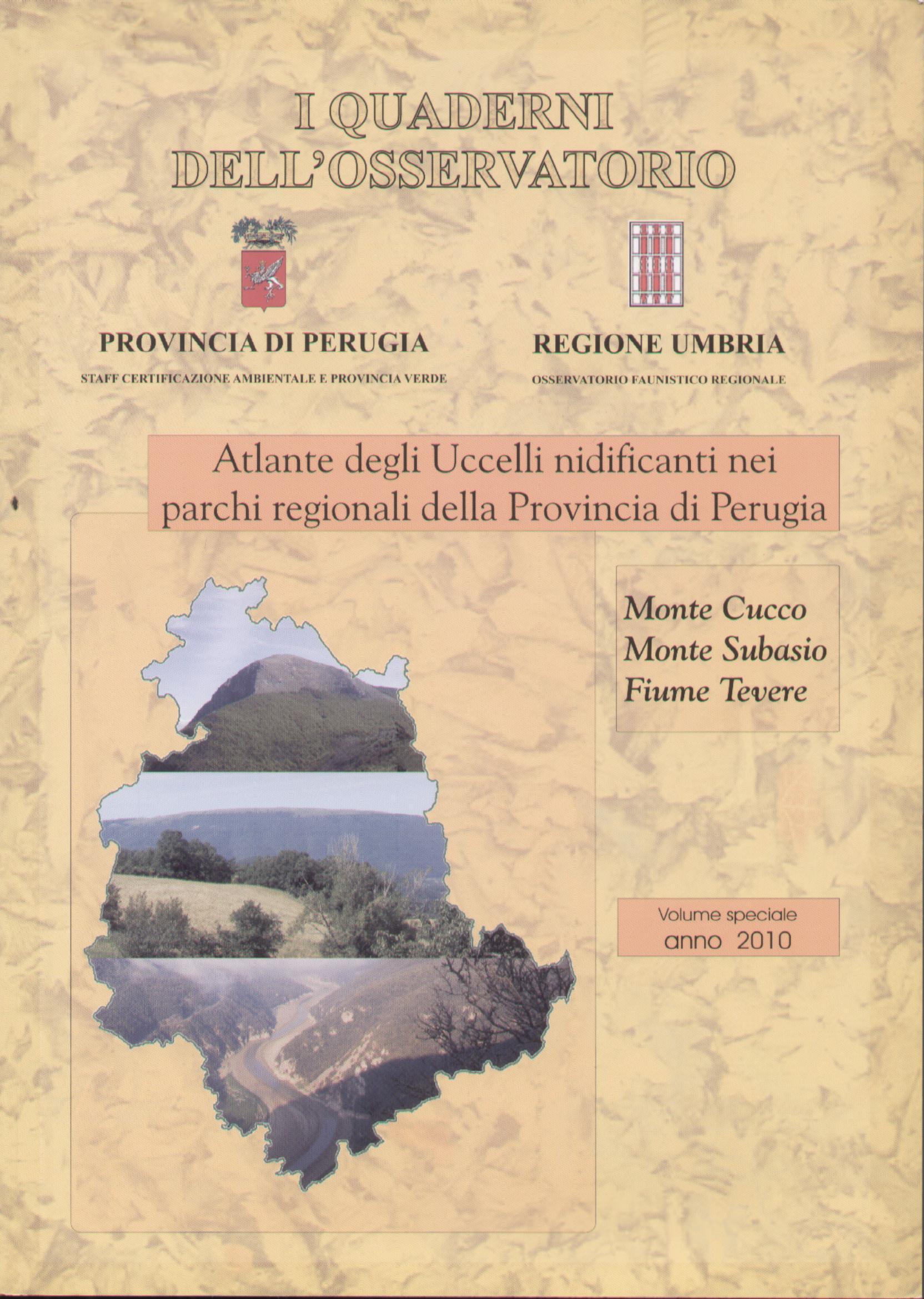 Atlante degli uccelli nidificanti nei parchi regionali della Provincia di Perugia