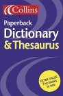 Collins Paperback Dictionary and Thesaurus