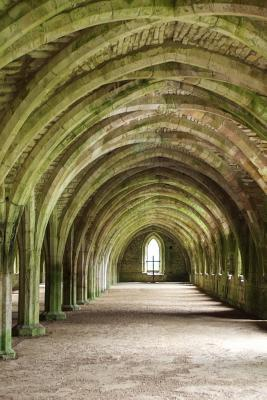 Vaulted Cellar Fountains Abbey Ruins Yorkshire England Lined Journal