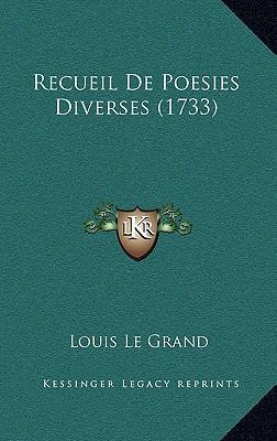 Recueil de Poesies Diverses (1733)