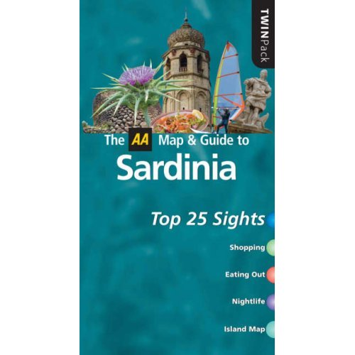 The AA Map & Guide to Sardinia