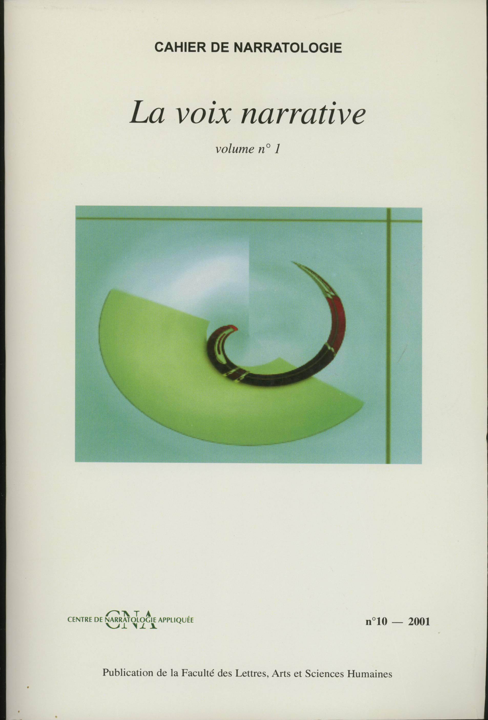 La voix narrative. n. 10 2001. 2t
