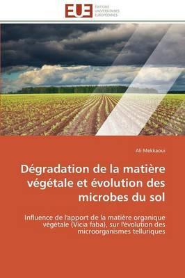 Degradation de la Matière Vegetale et Evolution des Microbes du Sol