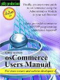 osCommerce Users Manual V. 2.0