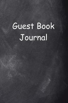 Guest Book Journal Chalkboard Design