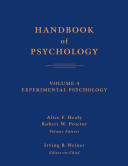 Handbook of Psychology, Experimental Psychology