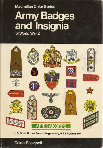 Army Badges and Insignia of World War 2 Book 1 Great Britain,Poland,Belgium,Italy,U.S.S.R.,Germany