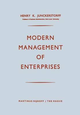 Modern Management of Enterprises