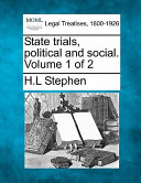 State Trials, Political and Social. Volume 1 Of 2
