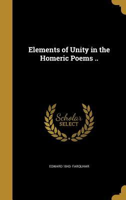 ELEMENTS OF UNITY IN THE HOMER