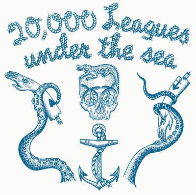 20,000 Leagues Under The Sea - By Jules Verne with Music by Jonny Trunk On LP