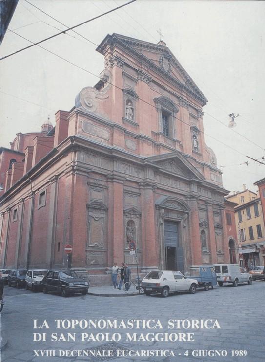 La toponomastica storica nel territorio parrocchiale di San Paolo Maggiore