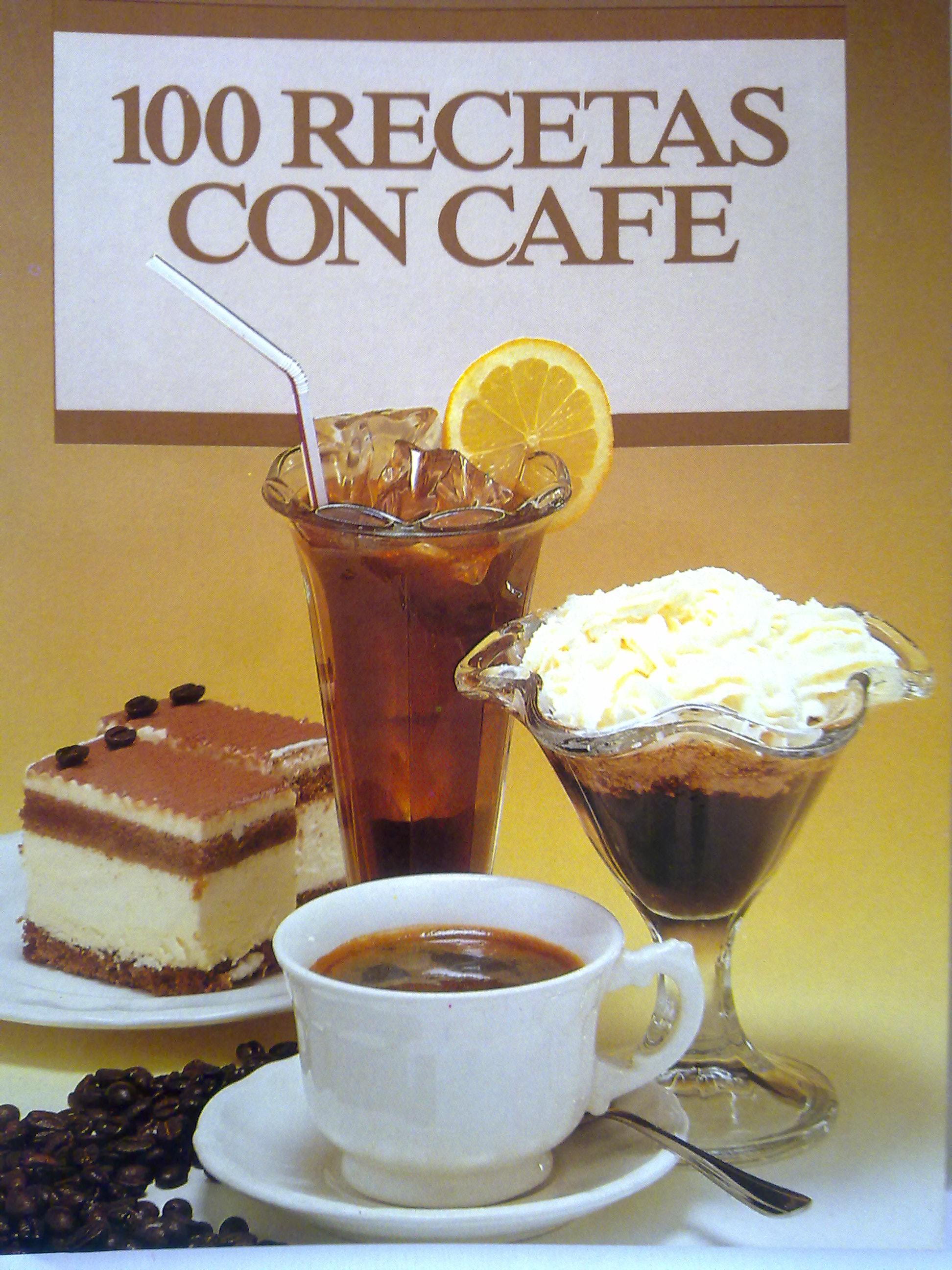 100 recetas de pasteles, helados y bebidas con café