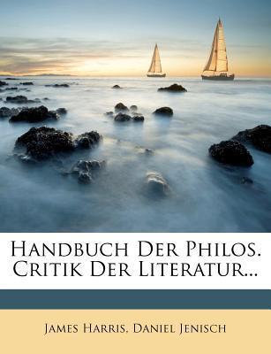 Handbuch Der Philos. Critik Der Literatur