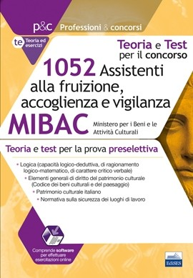 Concorso MIBAC 1052 assistenti alla fruizione, accoglienza e vigilanza