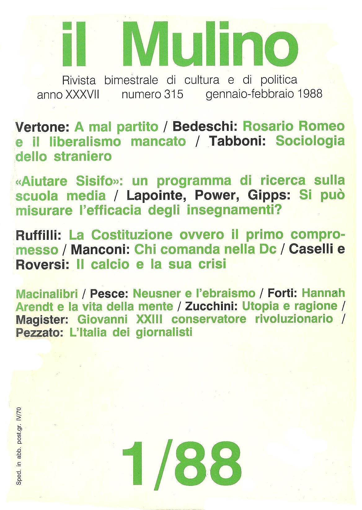 Il Mulino n. 315 (1/...