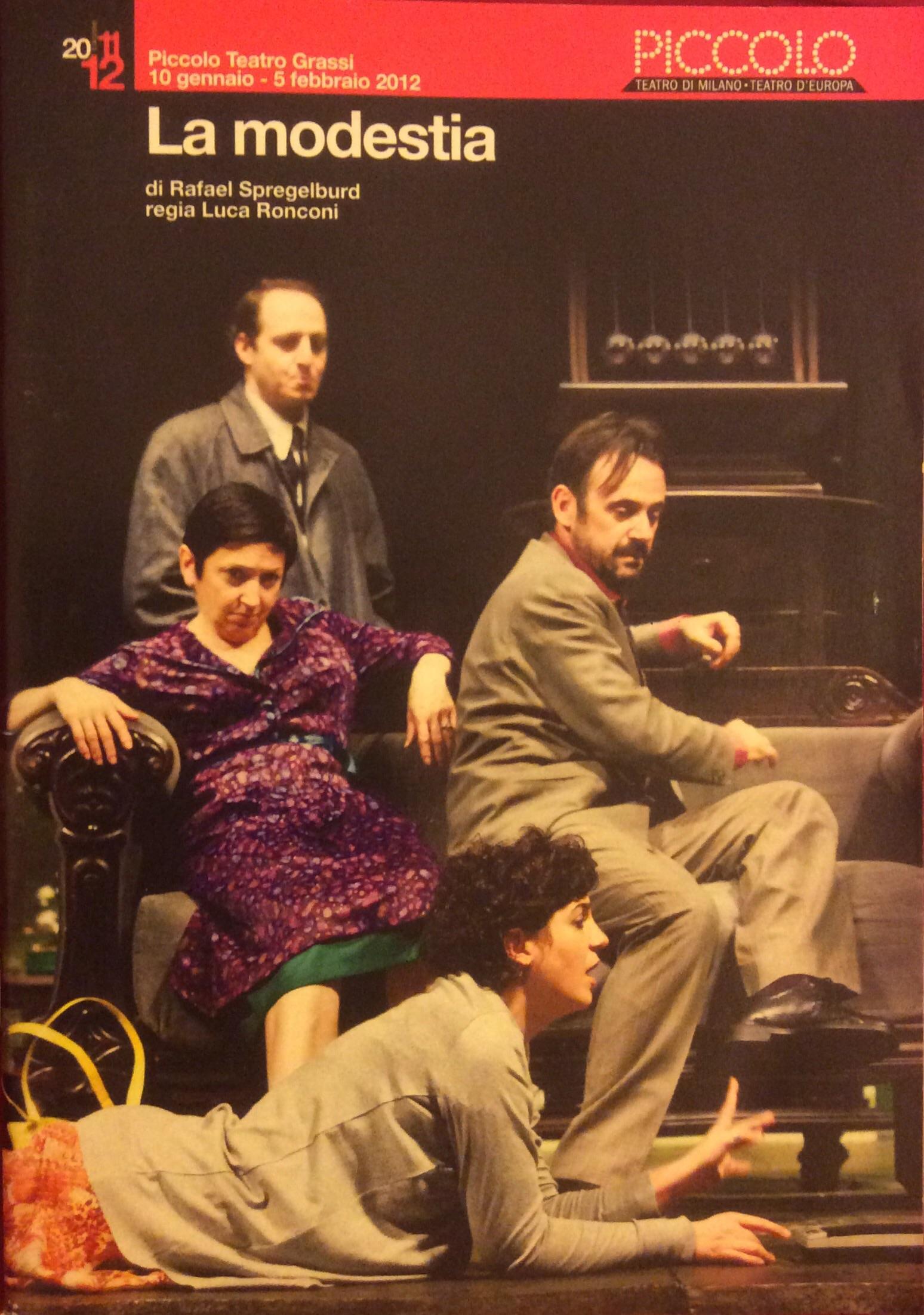 La modestia di Rafael Spregelburd, regia Luca Ronconi