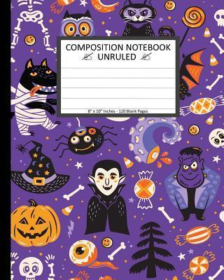 Halloween Cartoon Characters Notebook