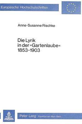 Die Lyrik in der «Gartenlaube» 1853-1903
