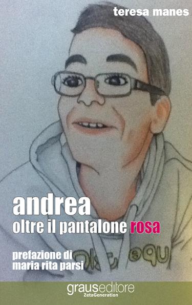 Andrea oltre il pantalone rosa